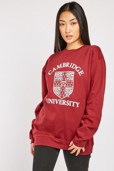 Unisex Printed Front Sweatshirt