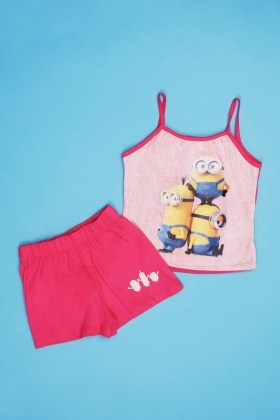 Minion Cami And Shorts Pyjama Set