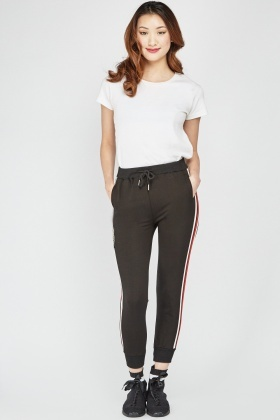 Applique Side Striped Joggers