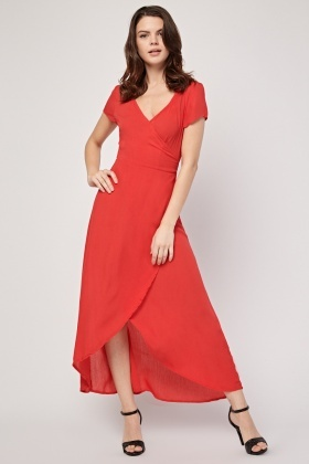 Crinkled Tie Up Maxi Dress