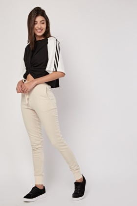 Casual Beige Jogger Pants