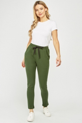 Gathered Waist Casual Jogger Pants