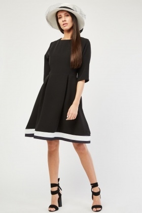 Box Pleated Monochrome Skater Dress £5.00