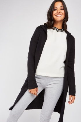 Long Line Hooded Knit Cardigan £5.00