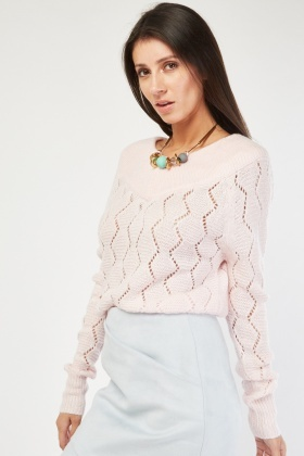 V-Neck Zig Zag Pattern Jumper £5.00