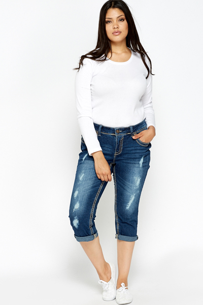 Mid Wash Cropped Jeans - Just £5