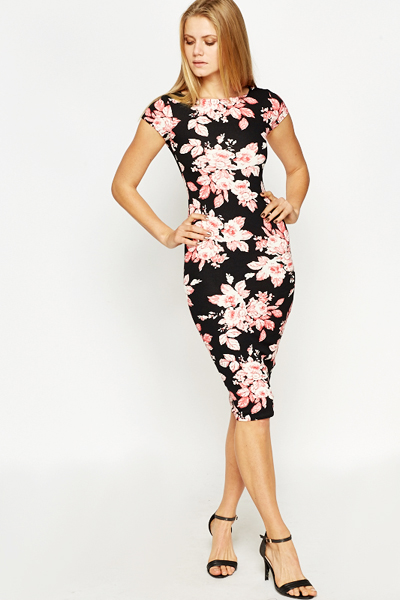 large floral bodycon dress just 1635