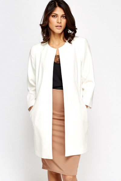 Tailored White Dress Coat - Just £5