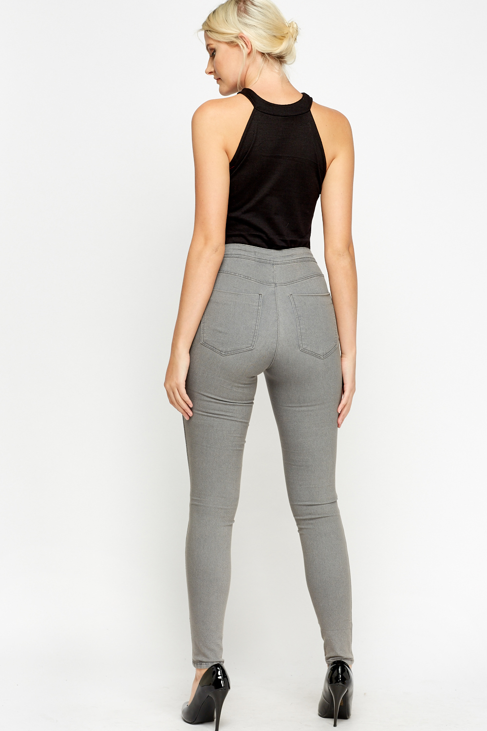 Womens High Waist Skinny Jeans