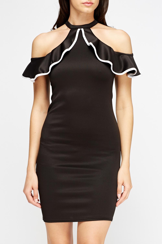 Halter Neck Off Shoulder Dress Just 163 5