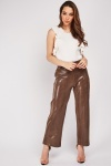 Shiny Mock Croc Pattern Trousers