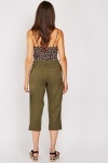 Embroidered Elasticated 3/4 Trousers