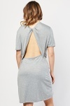 Twisted Open Back Speckled Dress