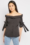 Tie Up Sleeve Blouse