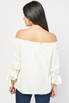 Tie Up Off Shoulder Blouse