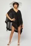 Studded Chiffon Beach Cover Up