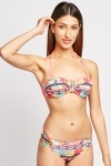 Hawaiin Print Balconette Bikini Set