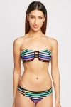 Candy Stripe Halter Bikini Set