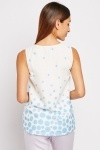 Laser Cut Crochet Overlay Top