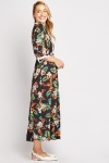 Tropical Crochet Contrast Maxi Dress