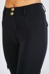 Flap Pocket Side Skinny Trousers