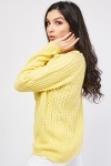 Cable Knit Panel Perforated Jumper