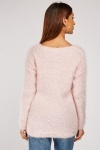V-Neck Chunky Eyelash Jumper