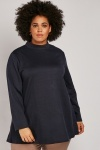 Contrasted Panel Flared Knit Jumper