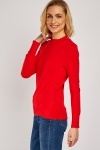 Scallop Edging Knit Top