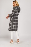 Window Pane Hooded Coat