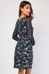 Flower Embroidered Lace Dress