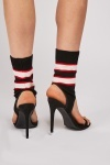 Striped Sock Insert Heels