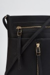 Zipper Detail Cross-Body Bag