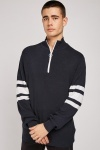 Zipper Front Knit Jumper
