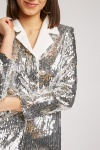 Disco Sequin Double Breasted Playsuit