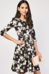 Box Pleated Floral Dress