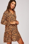 Animal Print Mini Smock Dress