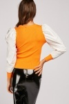 Colour Block Ribbed Top