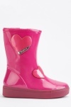 Heart Detail Kids Vinyl Wellies