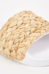 Plaited Straw Front Sliders