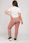 Sateen Strip Panel Tapered Trousers