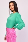 Bishop Sleeve Plain Blouse