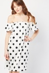 Polka Dot Off Shoulder Dress