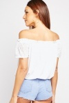 Lace Sleeve Off Shoulder Top
