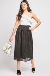 Shimmery Pleated Skirt