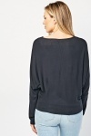 Bateau Neck Fine Knit Sweater