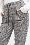 Glen Check High Waisted Joggers