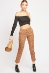 Leopard Print Ankle Grazer Trousers