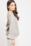 Rolled Sleeve Knit Jumper