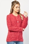 Long Sleeve Bobble Textured Cardigan